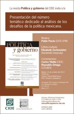 Cartel de presentación. Política y gobierno.
